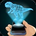 Dinosaur 3D Hologram Simulator icon