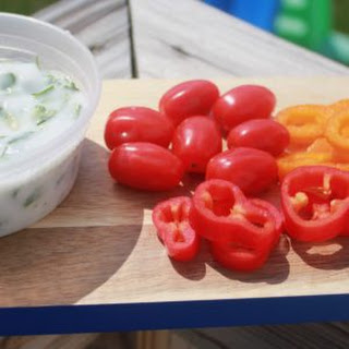 Tangy Cucumber Cilantro Dip - Vegan, Paleo.