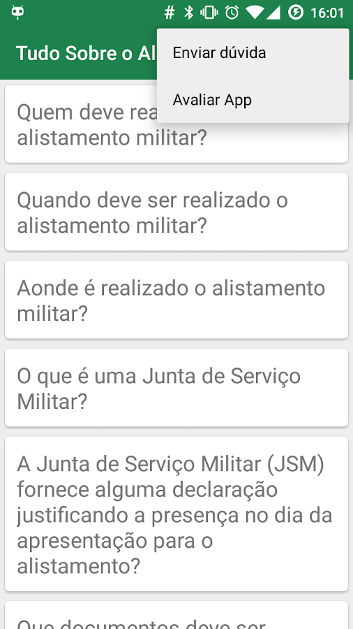 Brazilian Military Enlistment - screenshot