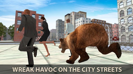 Hungry Bear City Attack Sim 3D - náhled