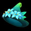 青い草木のさんかく帽子A