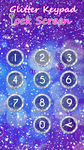 Glitter Keypad Lock Screen 5.0 screenshots 3