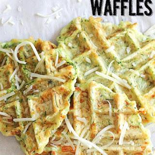 Zucchini Parmesan Waffle Fritters