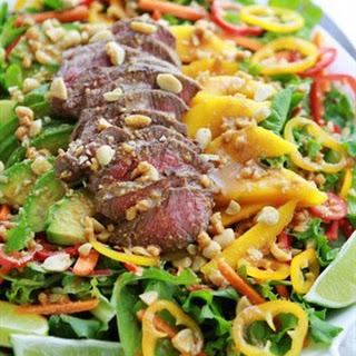Easy Sirloin Thai Salad.