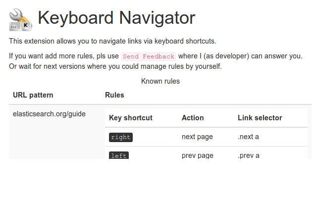 Keyboard Navigator
