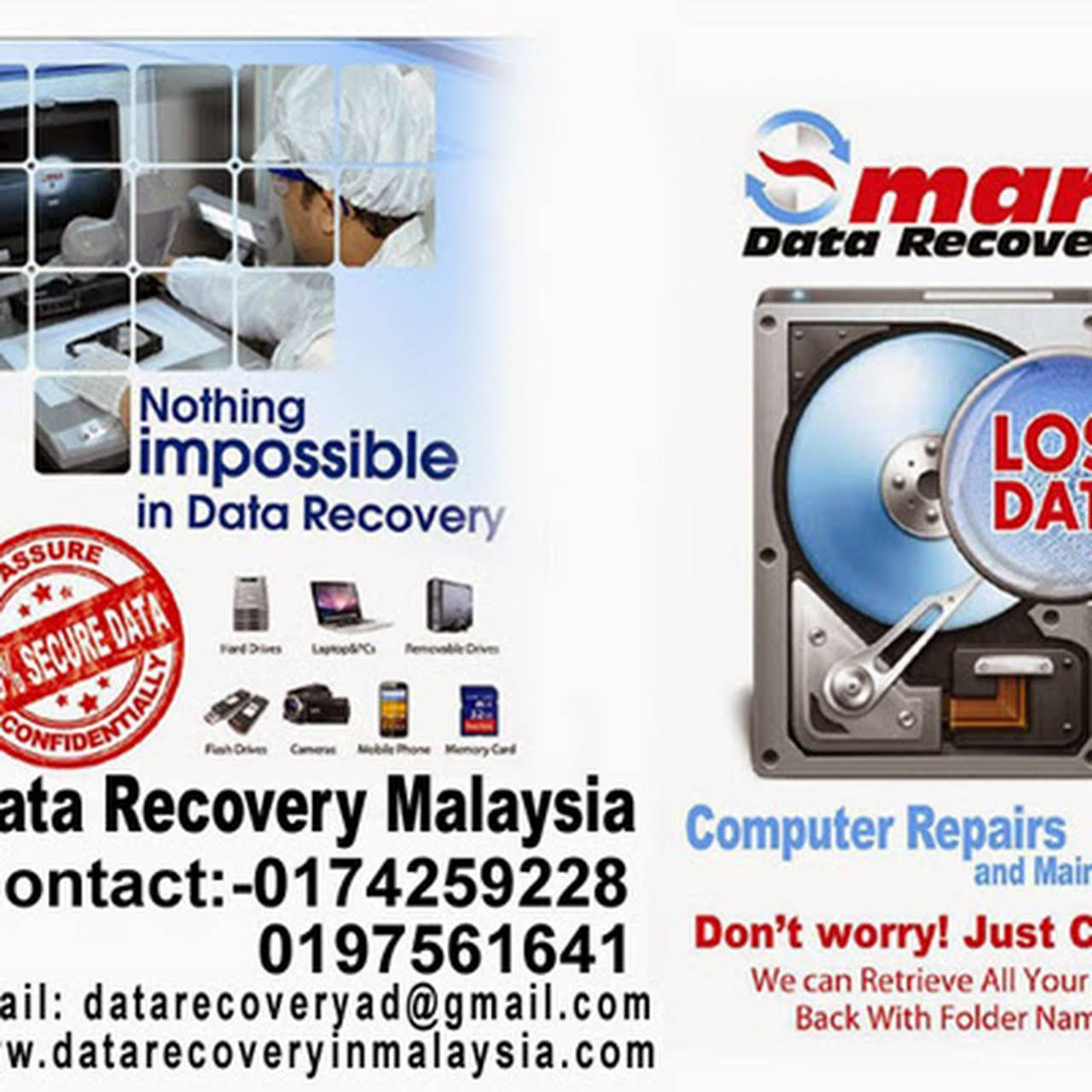 SMART DATA RECOVERY MALAYSIA - Data Recovery Services