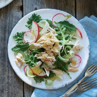 Poached Albacore with Fennel, Apple, and Radish Salad