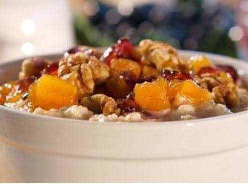 Apricot Cranberry Oatmeal With Walnuts Recipe