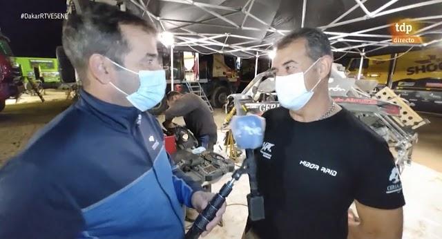 Entrevistado por Paco Grande en el programa Dakar de tdp