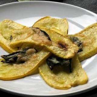 Roasted Yellow Squash with Basil.