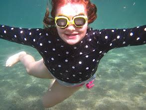 Photo: Charlotte enjoying the Mediterranean sea