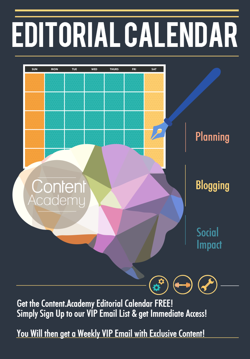 Use an Editorial Calendar for your Content Strategy