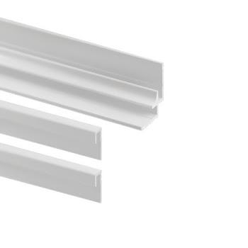Lot : 2 profilés de finition + 1 profilé d'angle pour panneaux muraux Decodesign, blanc