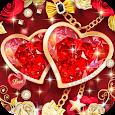 Red Love Heart Theme apk