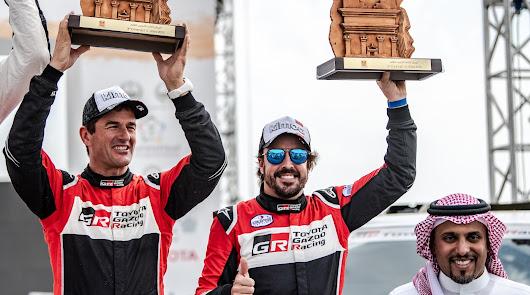 Primer podio para Fernando Alonso con Toyota Gazoo Racing