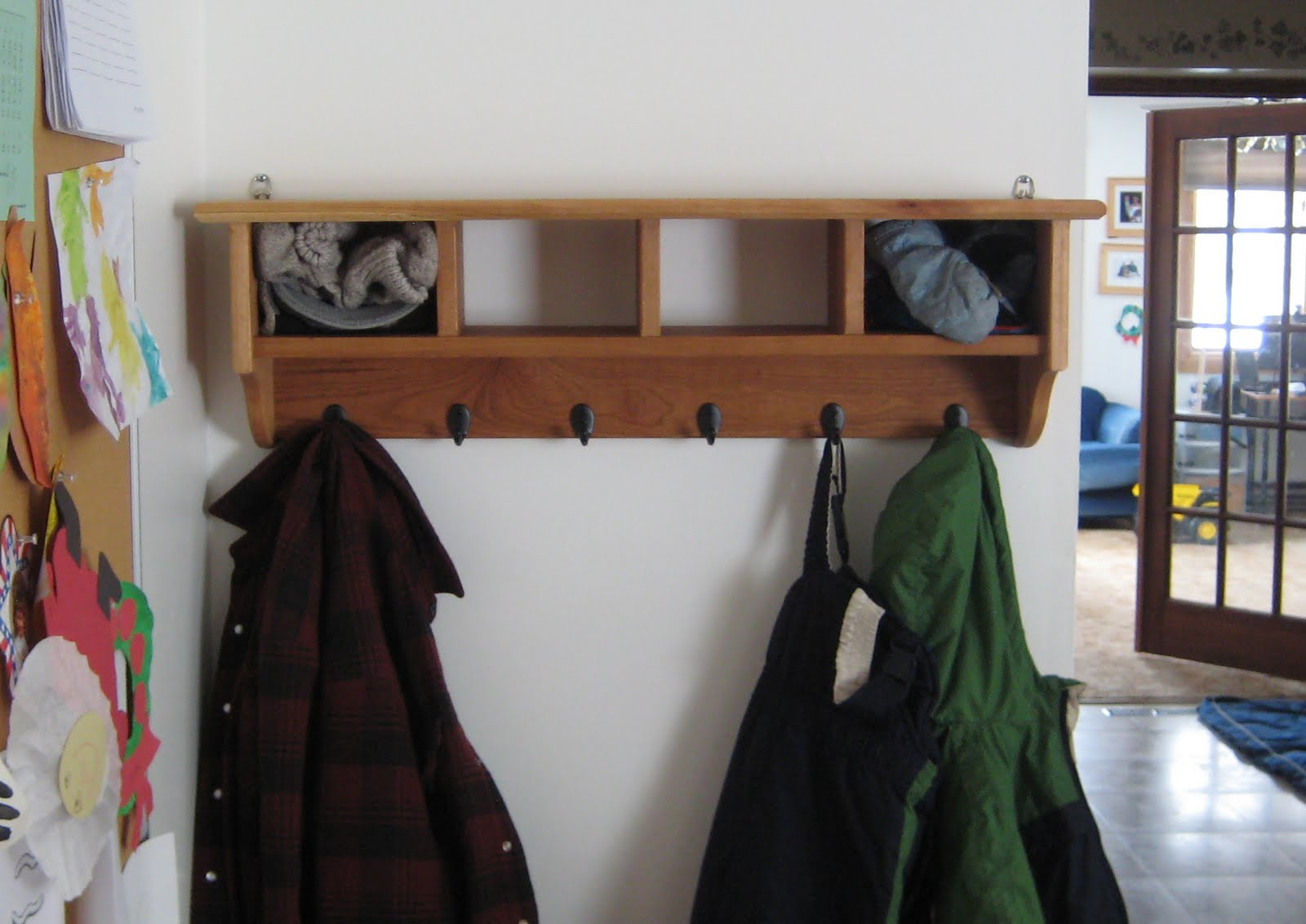 Photo: Finished Coat Rack