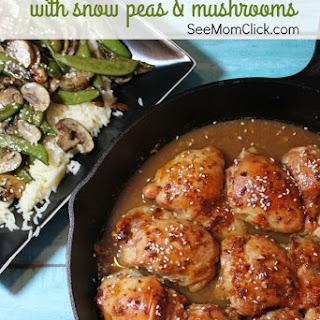 Easy Skillet Sesame Chicken Recipe With Snow Peas & Mushrooms