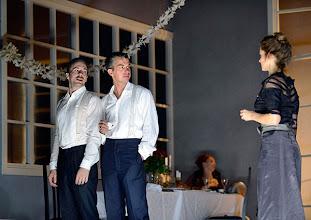 """Photo: WIEN/ THEATER IN DER JOSEFSTADT: """"LIEBELEI"""" von Arthur Schnitzler. Premiere 4.9.2014. Florian Teichtmeister, Matthias Franz Stein, Alma Hasun. Foto-Copyright: Barbara Zeininger"""
