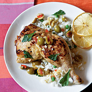 Chicken with Lemon and Olives.