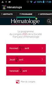 Hématologie congrès SFH 2015 screenshot 1