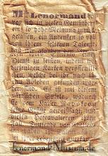 Photo: 1846 A legrégebbről fent maradt Lenormand jóskártya - használati utasítás