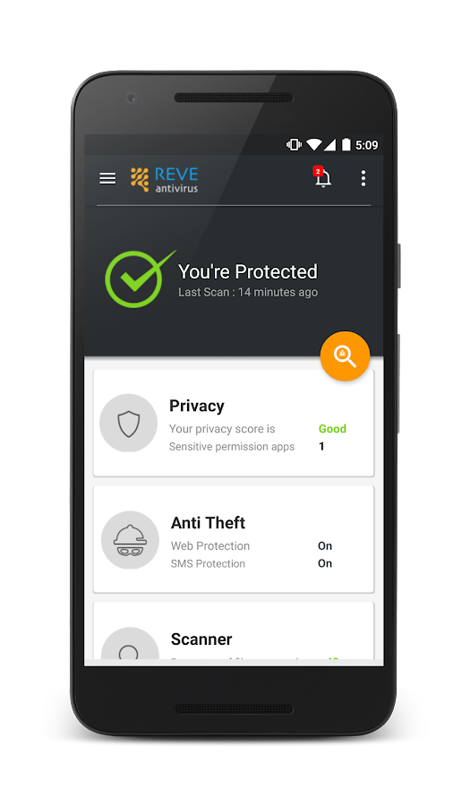 REVE Antivirus Mobile Security- screenshot