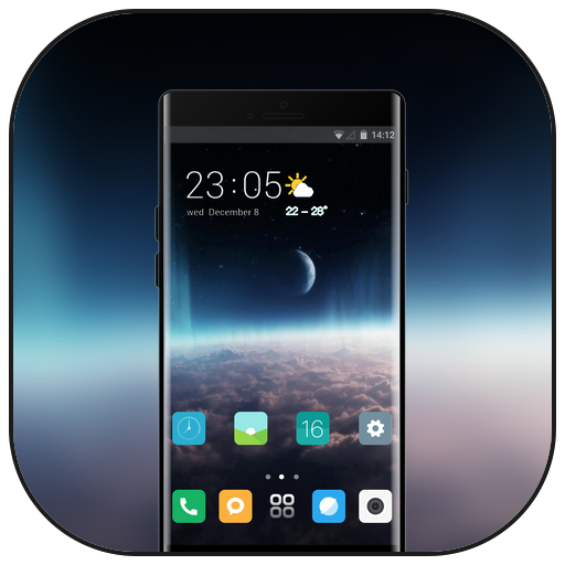 Theme for space galaxy black blurry xiaomi8 icon