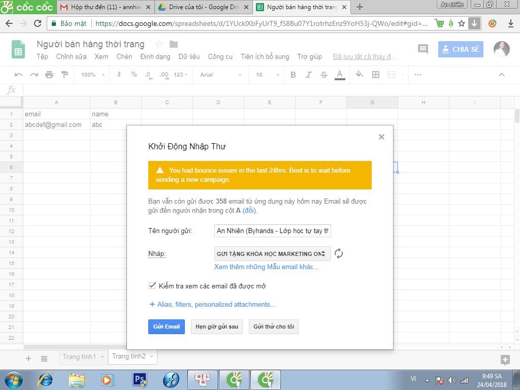 Email marketing miễn phí