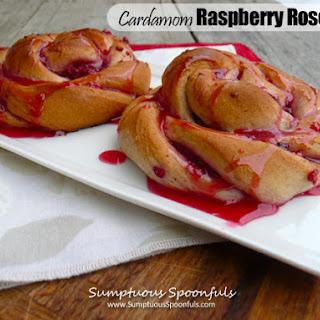 Cardamom Raspberry Rose Buns