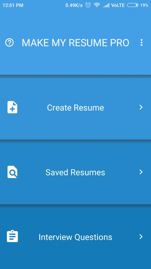 make my resume pro screenshot