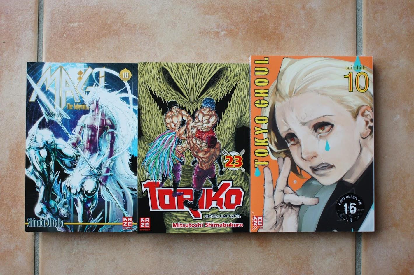Kazé Manga November Magi Toriko Tokyo Ghoul