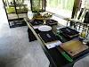 Indonésie. Cours de cuisine de Bali. Notre table de cuisson à The Amala