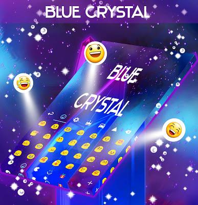 Blue Crystal Keyboard - screenshot