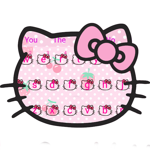 Pink Cute Kitty Bowknot Cartoon keyboard Theme file APK for Gaming PC/PS3/PS4 Smart TV
