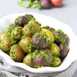 Boiled Cilantro Lime Potatoes.