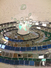 Photo: Close up of one of the drops of water. I cut out the splash on a Taurus 3 ring saw.