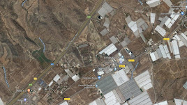 Vista área del tramo de la A7 afectado por el accidente.