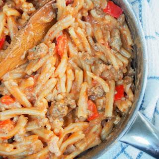 Spicy sausage pasta skillet #SundaySupper