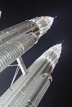 Photo: Bokštai naktį.  The towers at night.
