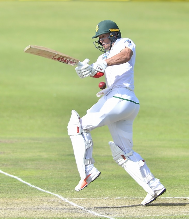 AB de Villiers of South Africa during day 2 of the 2nd Sunfoil Test match between South Africa and Australia at St Georges Park on March 10, 2018 in Port Elizabeth.