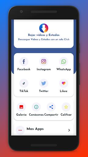 Bajar Vu00eddeos de Facebook y Redes Sociales 1.3.0 screenshots 1