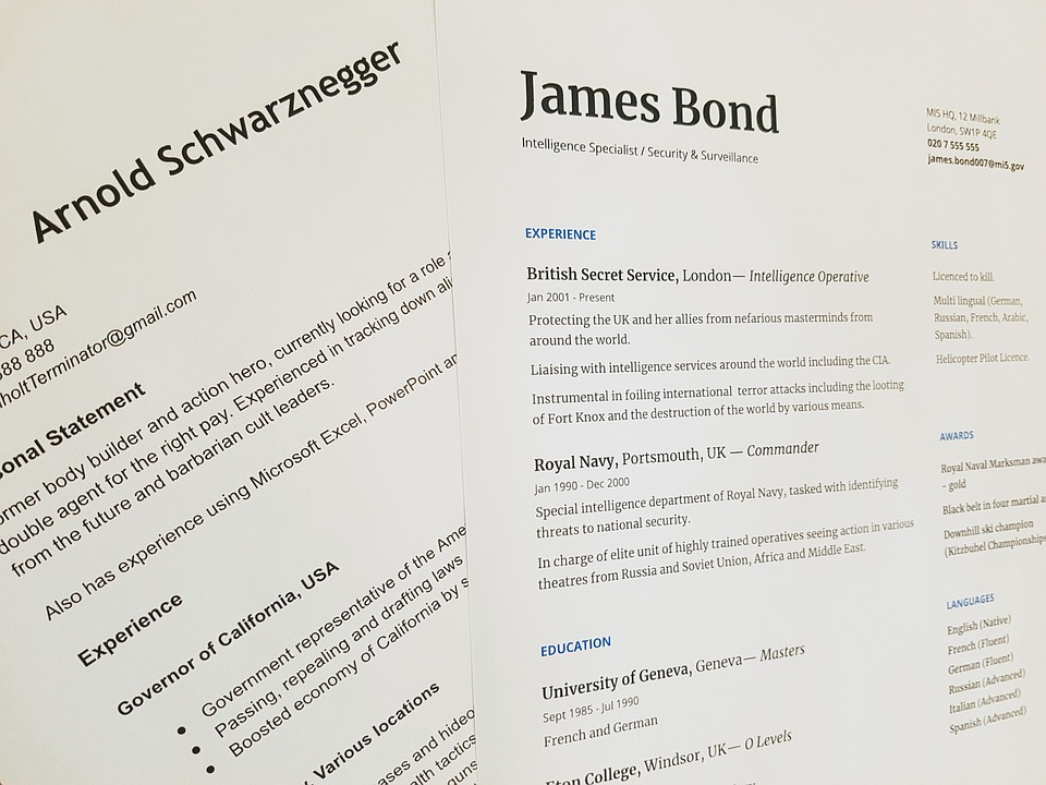 James bond resume
