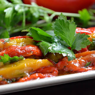 Marinated Roasted Bell Peppers.
