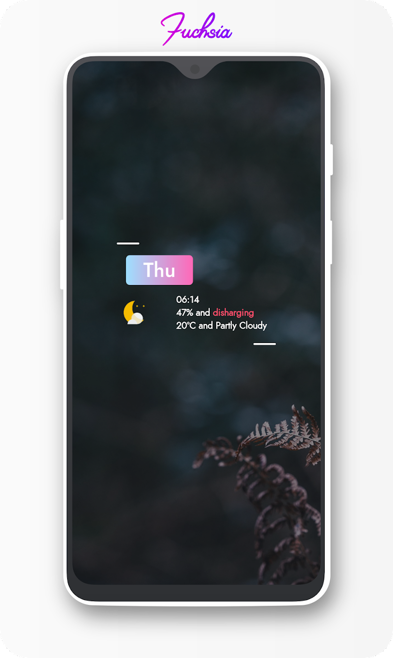 Fuchsia KWGT - Gradient Based Widgets Screenshot 11