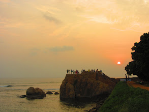 Photo: Sunset on the fort in Galle.