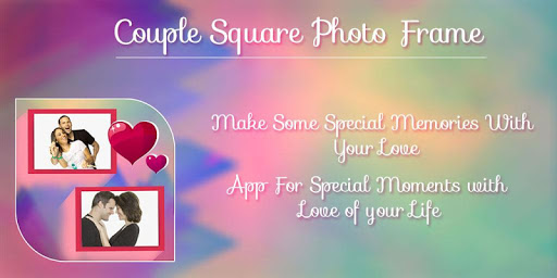 Couple Square Photo Frames