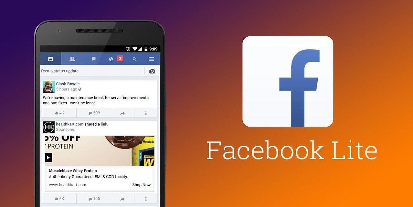 Sử dụng facebook lite cho thiết bị của bạn