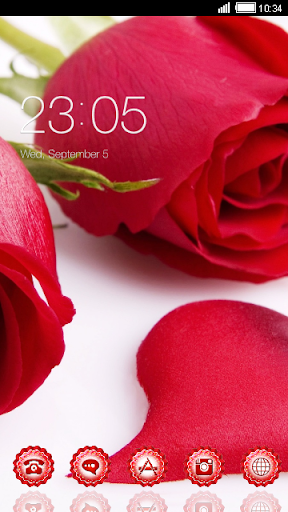Red Roses CLauncher Theme