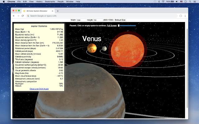 3D Solar System Simulator