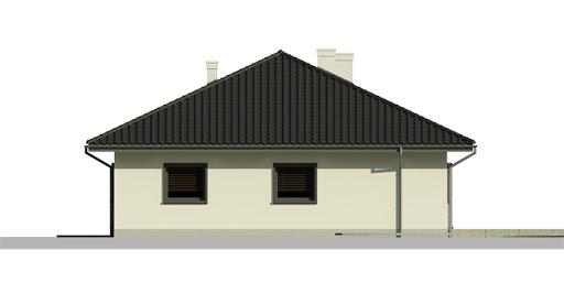 Dom przy Słonecznej 6 bis - Elewacja tylna